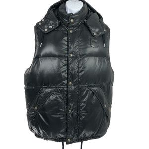 Polo Ralph Lauren Vintage Puffer Vest Hooded Black